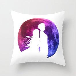 Anime Moon Inspired Shirt Throw Pillow