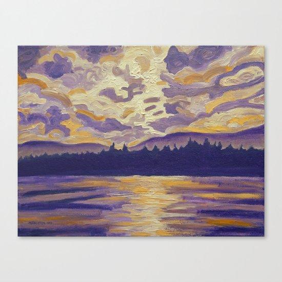Okanagan Landscape in Purple and Hansa Canvas Print