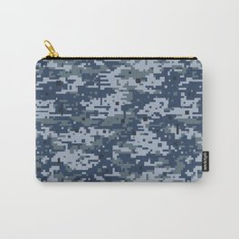 Navy Digital Camo Camouflage Digicam Pattern Military Uniform Carry-All Pouch