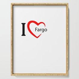 Fargo. I love my favorite city. Serving Tray