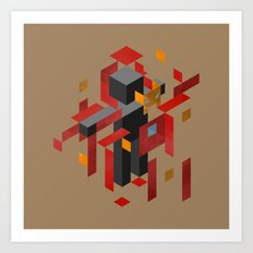 Iron Man Assembled Art Print
