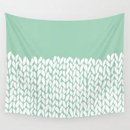 Half Knit Mint Wall Tapestry