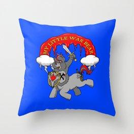 MY LITTLE WAR BEAR Throw Pillow