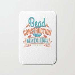Bead Construction Never Ends Beadwork Bath Mat