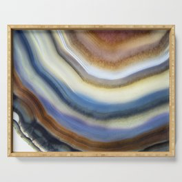 Colorful layered agate 2075 Serving Tray