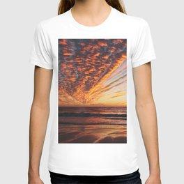 Sunset on the beach. T-shirt