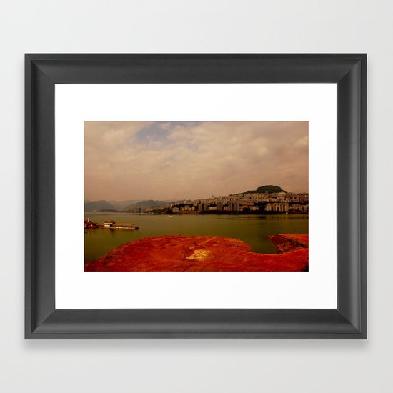 foggy peacefulness #2 Framed Art Print