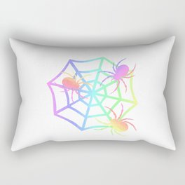 Pastel Spider And Web Rectangular Pillow