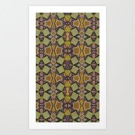 Shaman plaid Art Print