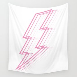 Pink Lightning Bolt Wall Tapestry