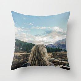 Colorado Mountains // Throw Pillow