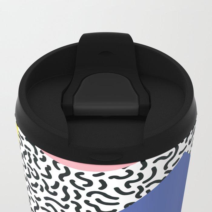 Memphis Pattern 1 Travel Mug
