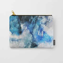 Waves Abstract Painting - Minimalist Seascape Painting Carry-All Pouch