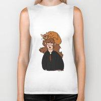 hermione Biker Tanks featuring Hermione and Crookshanks  by zoosemiotics