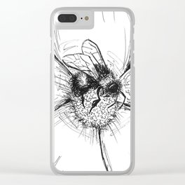 the pollinator Clear iPhone Case