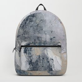 As Restless as the Sea: a minimal abstract painting by Alyssa Hamilton Art Backpack