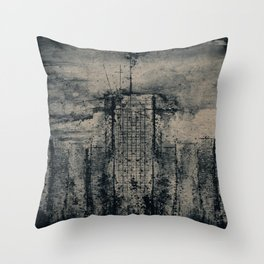 CITY VINTAGE REFLECTION BLUE Throw Pillow