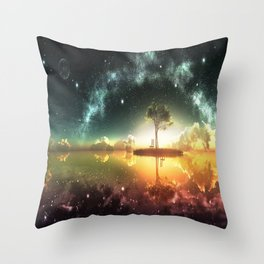 Space Tree Throw Pillow