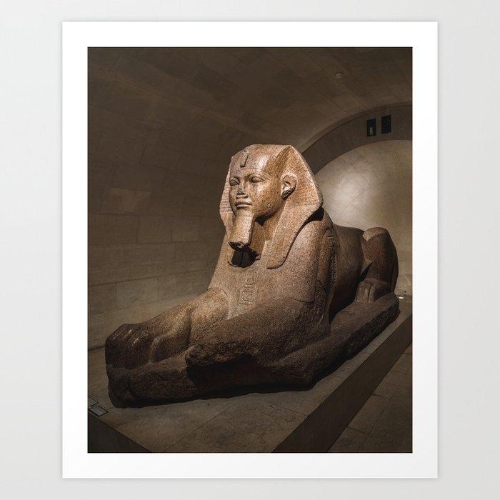 Grand sphinx de Tanis Art Print