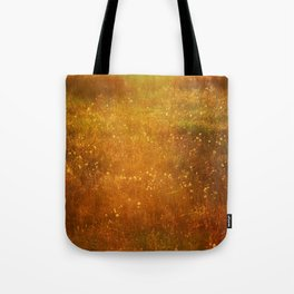 In Fields of Gold, Landscape Wildflowers Tote Bag