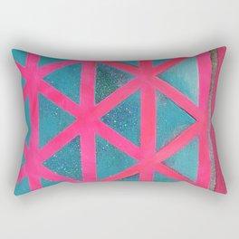 Turquoise on Hot Pink Rectangular Pillow