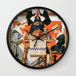 Joseph Christian Leyendecker - Thanksgiving Day 1648 - Digital Remastered Edition Wall Clock