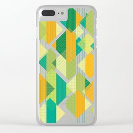 Grids, Lines, Squares Clear iPhone Case