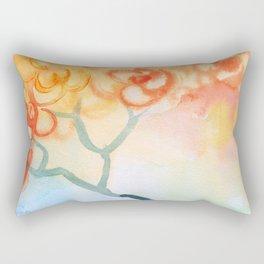 Cherry flowers in the blue jug Rectangular Pillow