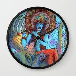 Krishna snake elephant Wall Clock