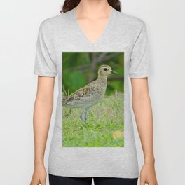 Pacific Golden Plover Unisex V-Neck