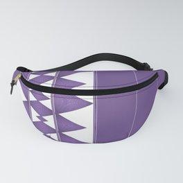 Purple Diamond Stripe Pattern Fanny Pack