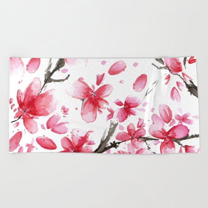 Cherry Blossoms #society6 #buyart Beach Towel
