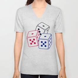 Bunco Dices V6S2 Unisex V-Neck