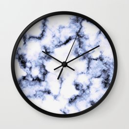 Black and Blue Marble Wall Clock