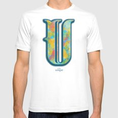 U is for Unique MEDIUM White Mens Fitted Tee
