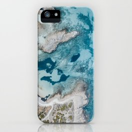 Abstract aerial beach shot Italy iPhone Case