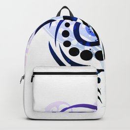 Blue Tribal Love Backpack