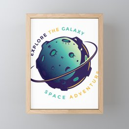 the galaxy explore outer space adventure Framed Mini Art Print