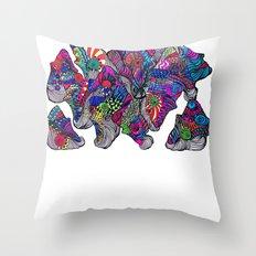 Mongali Faces Throw Pillow