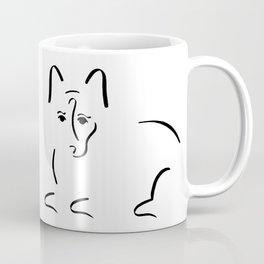 Dog Lovers // Corgi Minimalist Ink Drawing Coffee Mug