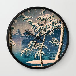 SENZOKUIKE - Kawase Hasui Wall Clock