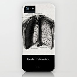 Breathe. A PSA for stressed creatives. iPhone Case