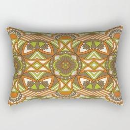 Boho Geometric Pattern 21 Rectangular Pillow