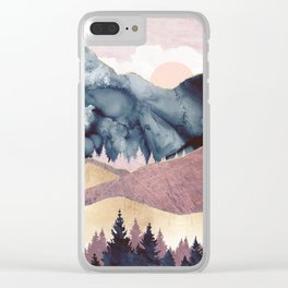 Mauve Vista Clear iPhone Case