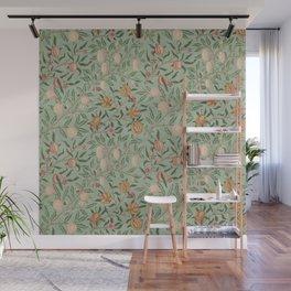 William Morris Vintage Fruit Sage Green  Wall Mural