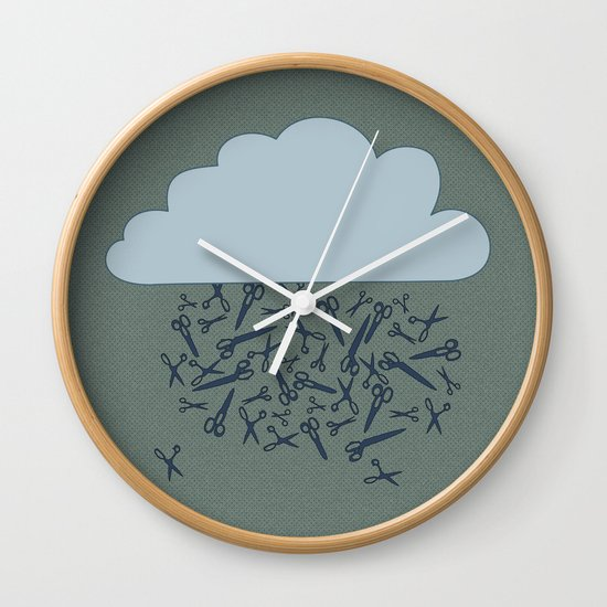 IT'S RAINING BLADES Wall Clock