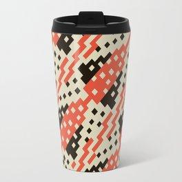 Chocktaw Geometric Square Cutout Pattern - Iron Oxide Travel Mug