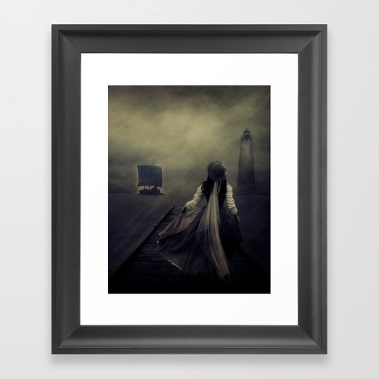 After the long waiting Framed Art Print