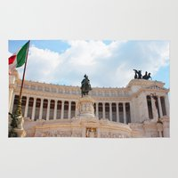 rome Area & Throw Rugs featuring Rome by Anya Kubilus