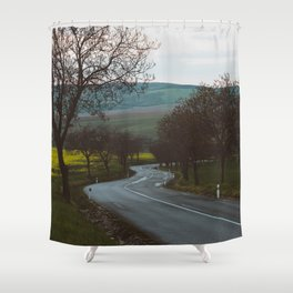 Along a rural road - Landscape and Nature Photography Shower Curtain